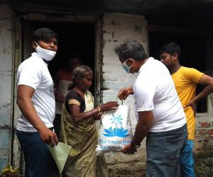 Food kit distribution to the vulnerable and needy